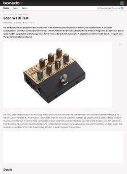 Bonedo.de Eden WTDI Test