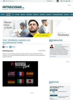 Amazona.de Test: Steinberg, Nuendo Live, Recordingsoftware