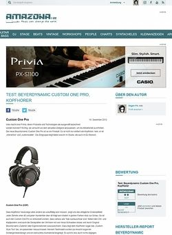 Amazona.de Test: Beyerdynamic Custom One Pro, Kopfhörer
