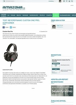 Amazona.de Test: Beyerdynamic Custom One Pro, Kopfhörer