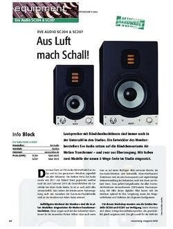 Recording Magazin Eve Audio SC204 & SC207