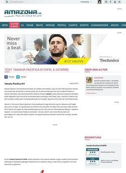 Amazona.de Test: Yamaha Pacifica 611HFM, E-Gitarre