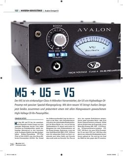 Professional Audio Avalon Design M5 + U5 = V5