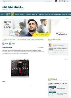 Amazona.de Test: Pioneer, DJM-2000 Nexus, DJ-Club-Mixer