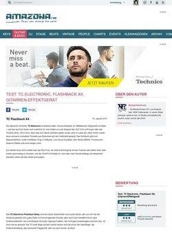 Amazona.de Test: TC Electronic, Flashback X4, Gitarren-Effektgerät