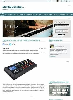 Amazona.de Top News: Akai, MPX8, Sample Launcher