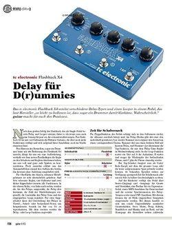 guitar gear Effekte - tc electronic Flashback X4