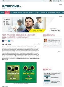 Amazona.de Test: Way Huge, Green Rhino & Swollen Pickle, Gitarren-Effektgeräte