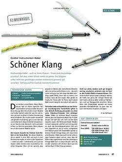 Soundcheck Test Klinkenkabel: Cordial Instrumenten-Kabel