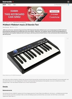 Bonedo.de Miditech Midistart music 25 Bundle Test