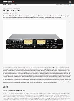 Bonedo.de ART Pro VLA II Test