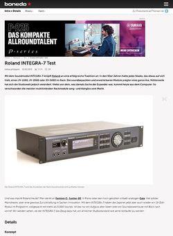 Bonedo.de Roland INTEGRA-7 Test