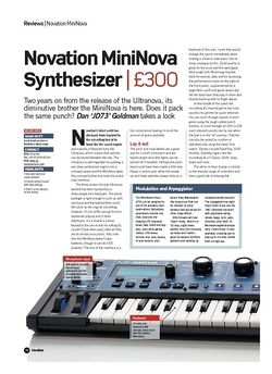 Future Music Novation MiniNova Synthesizer