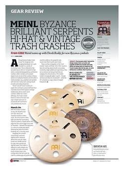 Rhythm MEINL BYZANCE BRILLIANT SERPENTS HI-HAT AND VINTAGE TRASH CRASHES