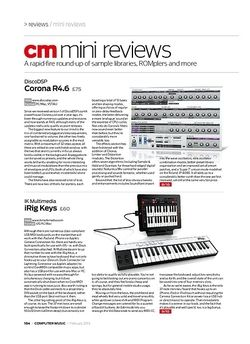 Computer Music IK Multimedia iRig Keys