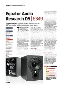 Future Music Equator Audio Research D5