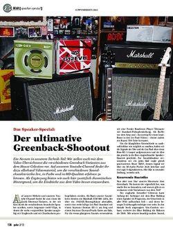 guitar Der ultimative Greenback-Shootout