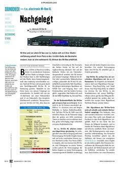 Soundcheck Test - t.c. electronic M-One XL