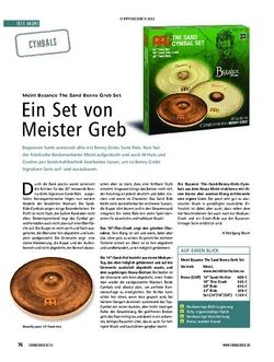 Soundcheck Test Cymbals: Meinl Byzance The Sand Benny Greb Set
