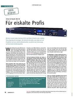 Soundcheck Test Audio-Interface: Allen & Heath ICE-16