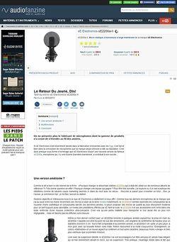Audiofanzine.com sE Electronics sE2200a II