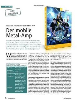 Soundcheck Test Amp-Simulation: Toontrack Metal Guitar Gods EZmix Pack