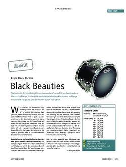 Soundcheck Test Drumfelle: Evans Black Chrome
