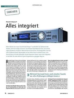 Soundcheck Test Soundmodul: Roland Integra-7