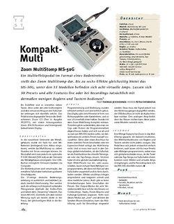 Gitarre & Bass Zoom MultiStomp MS-50G