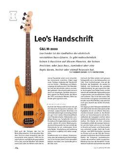 Gitarre & Bass G&L M-2000, E-Bass