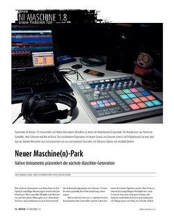Sound & Recording Preview: Native Instruments Maschine − Die neue Groove-Workstation