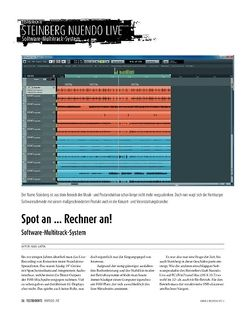 Sound & Recording Steinberg Nuendo Live − Software-Multitrack-System