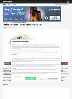 Bonedo.de Fender American Standard Stratocaster Test