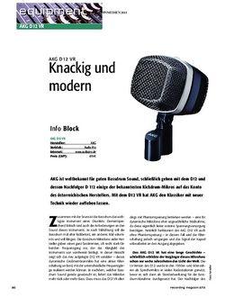 Recording Magazin AKG D12 VR