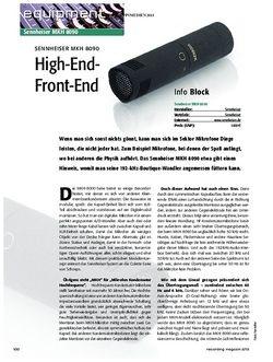 Recording Magazin Sennheiser MKH 8090