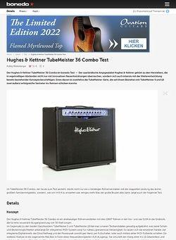 Bonedo.de Hughes & Kettner TubeMeister 36 Combo Test