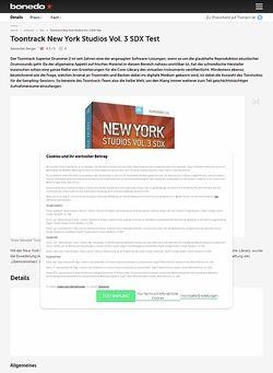 Bonedo.de Toontrack New York Studios Vol. 3 SDX Test