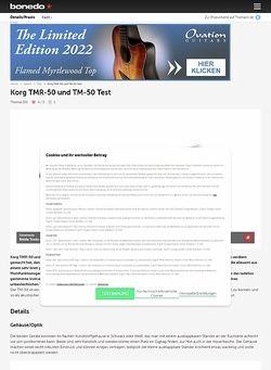 Bonedo.de Korg TMR-50 und TM-50 Test