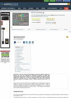 Audiofanzine.com Ableton Live 9 Suite