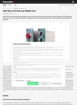Bonedo.de AMS Neve 1073LB und 88RLB Test