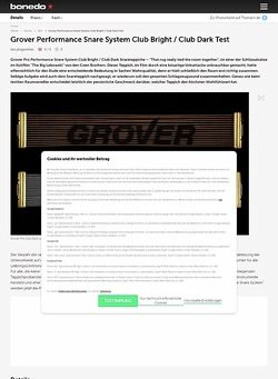 Bonedo.de Grover Pro Club Snareteppiche Test