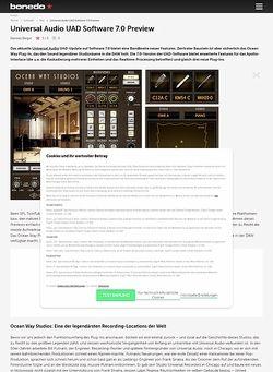 Bonedo.de Test Preview: Universal Audio UAD Software 7.0
