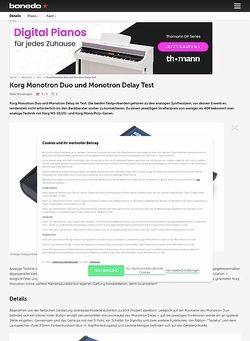 Bonedo.de Korg Monotron Duo und Monotron Delay Test