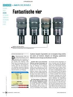 Soundcheck Test - Audix D-1, D-2, D-3 & D-4