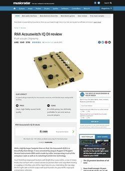 MusicRadar.com RMI Acouswitch IQ DI