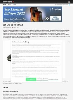 Bonedo.de ESP LTD EC-401B Test