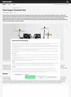 Bonedo.de Pearl Export Drumset Test