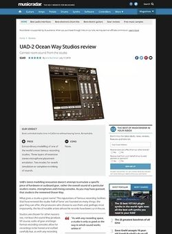 MusicRadar.com UAD-2 Ocean Way Studios