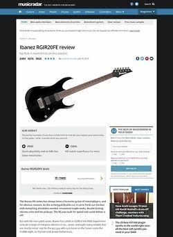 MusicRadar.com Ibanez RGIR20FE