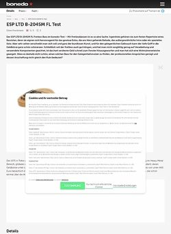 Bonedo.de ESP LTD B-204SM FL Test